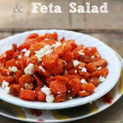 Roasted Carrot And Feta Salad