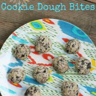 Raw espresso bean cookie dough bites, from Cheap Recipe Blog
