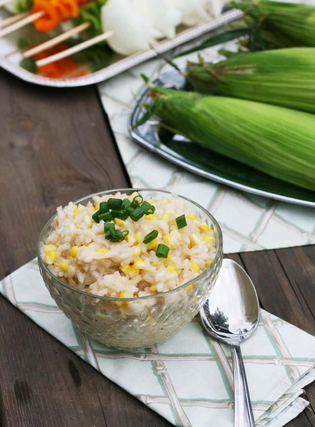 Sweet corn risotto recipe, from Cheap Recipe Blog