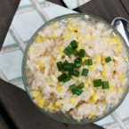 Sweet corn risotto recipe, from Cheap Recipe Blog