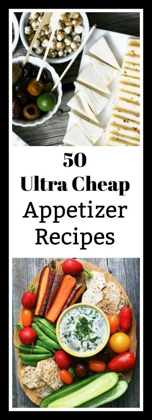 50 Ultra Cheap Appetizer Recipes (less than $1 per serving!)
