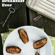 Dates filled with peanut butter and flax seeds, the quickest breakfast ever