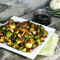 Fully loaded Brussels sprouts, a recipe from Cheap Recipe Blog