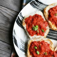 Cheesy tomato SPAM-wiches. This family favorite is made from just 3 ingredients. Click through for recipe!