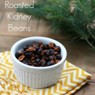 Roasted kidney beans recipe. An alternative to roasted chickpeas.