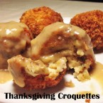 Thanksgiving croquettes recipe using leftover Thanksgiving food, from Cheap Recipe Blog