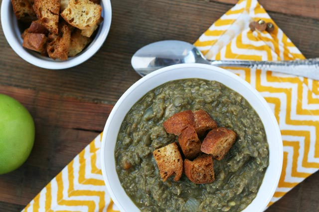 Lentil and chicken sausage soup