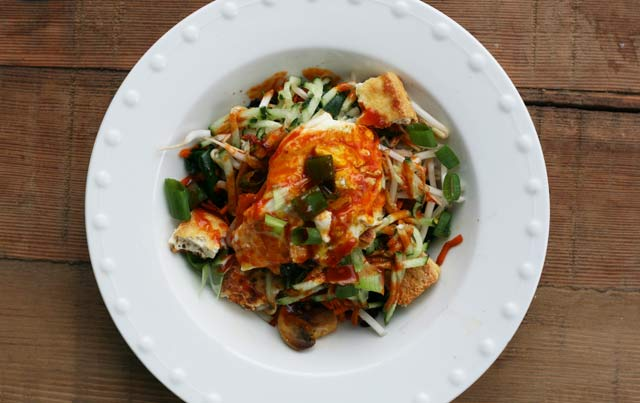 Quick vegetable bibimbap recipe