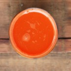 Making homemade carrot juice without a juicer, from Cheap Recipe Blog