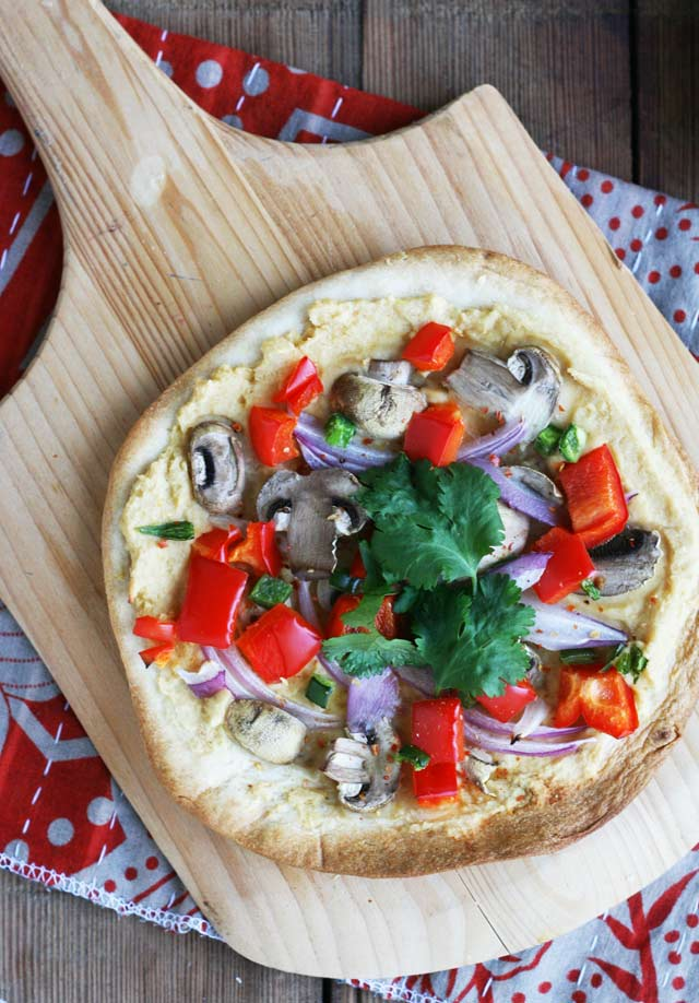 Veggie Hummus Pizza Recipe – Cheap Recipe Blog