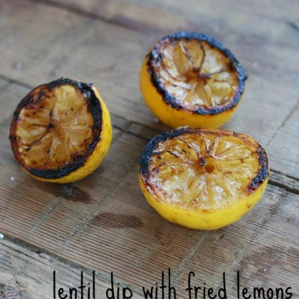 Fried lemons, used in this lentil dip, from Cheap Recipe Blog