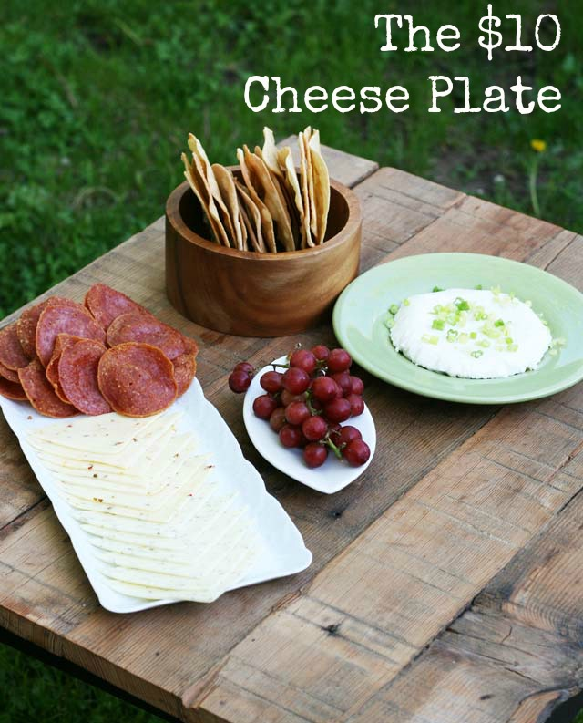 The $10 Cheese Plate for a party, by Cheap Recipe Blog