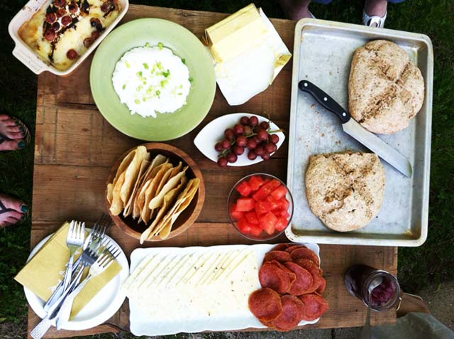 A bunch of party appetizers for right around $10, from Cheap Recipe Blog