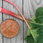 Cooked rhubarb sauce, from Cheap Recipe Blog