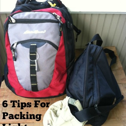 6 Tips for packing light on vacation