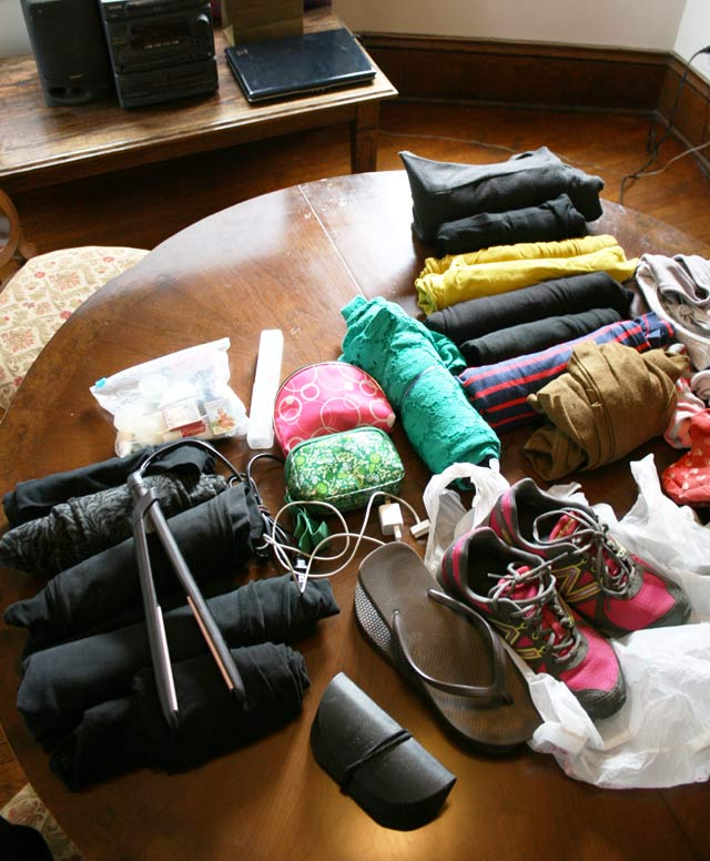 Tips for packing light (clothes)