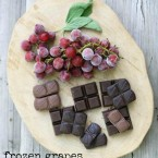 Frozen chocolate and grapes, the perfect cheap summer dessert