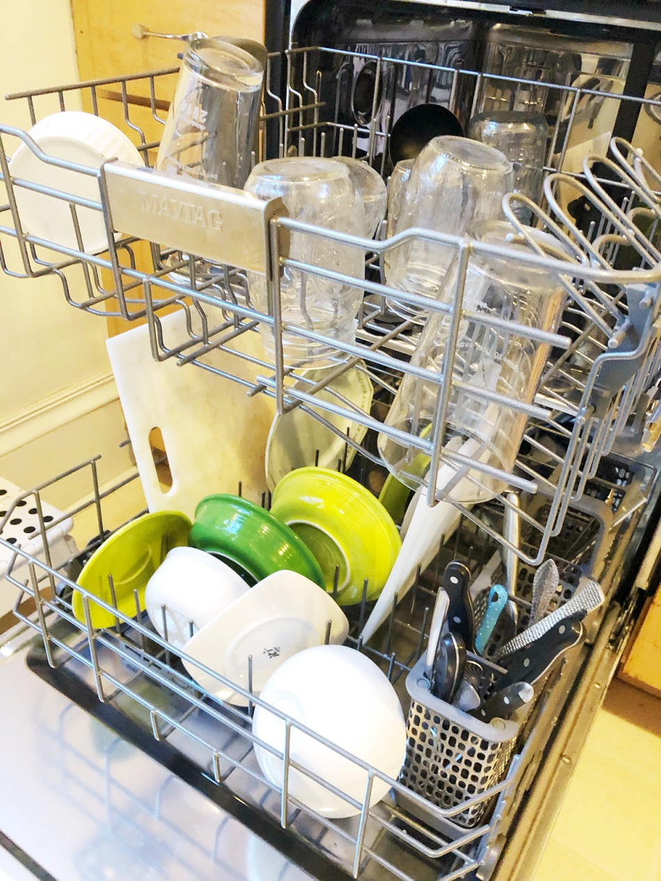 Learn how to make homemade dishwasher detergent, using less-toxic ingredients.