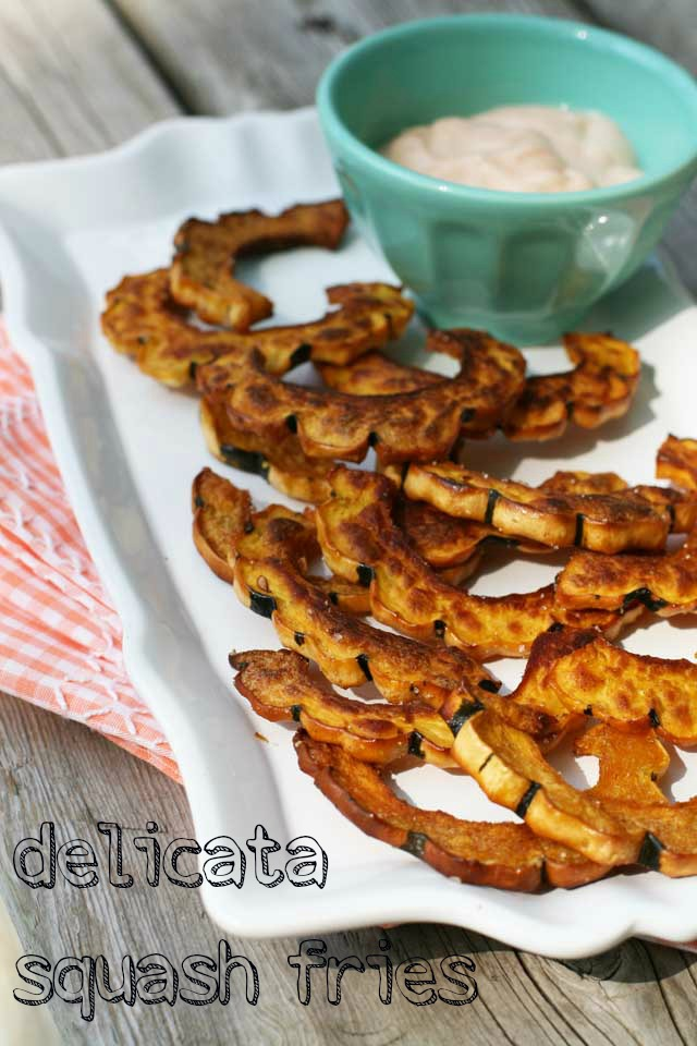 Delicata squash fries recipe, from Cheap Recipe Blog