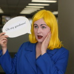 Lichtenstein/Pop Art girl costume for Halloween