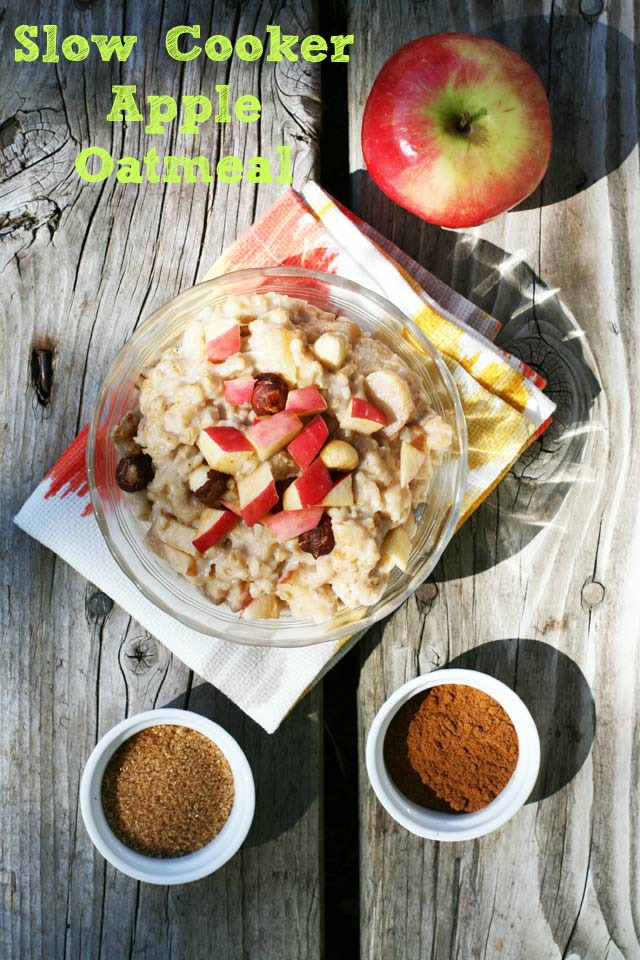 Slow-cooker apple oatmeal, part of the $10 Food Day from Cheap Recipe Blog. 4 HUGE servings cost just $2.37. Repin to save.