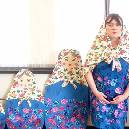 Russian nesting doll costume for Halloween (Matryoshka doll costume)