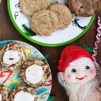Chewy Chocolate Chip Gingersnaps With a Spiked Eggnog Glaze