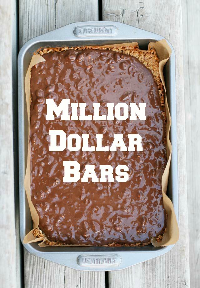 Million dollar bars (so delicious!) Click through for recipe.