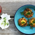 Got leftover rice? Make these cheese and kale rice fritters. Click through for recipe.