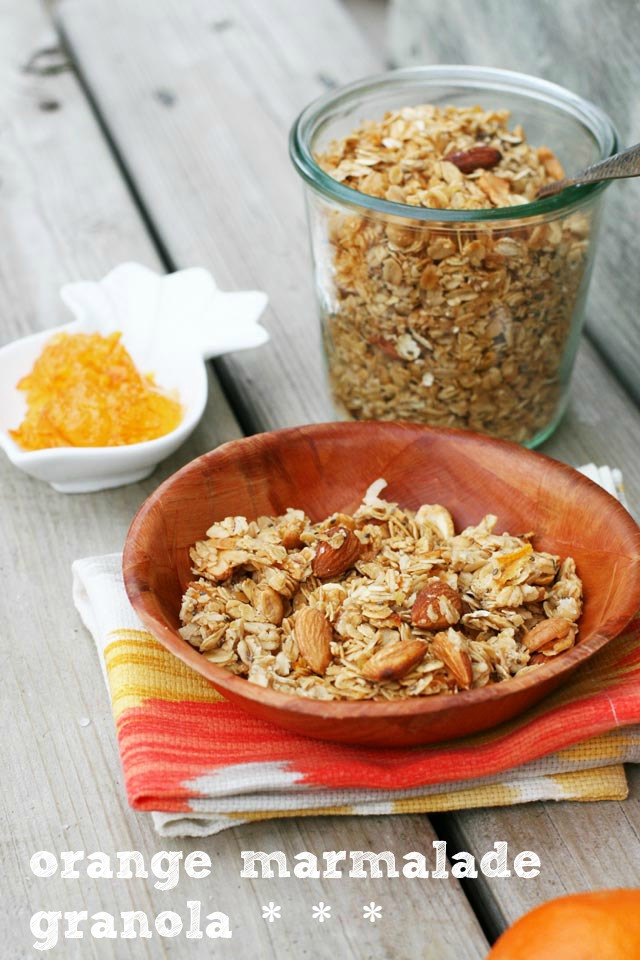Orange marmalade granola: A fresh take on granola!