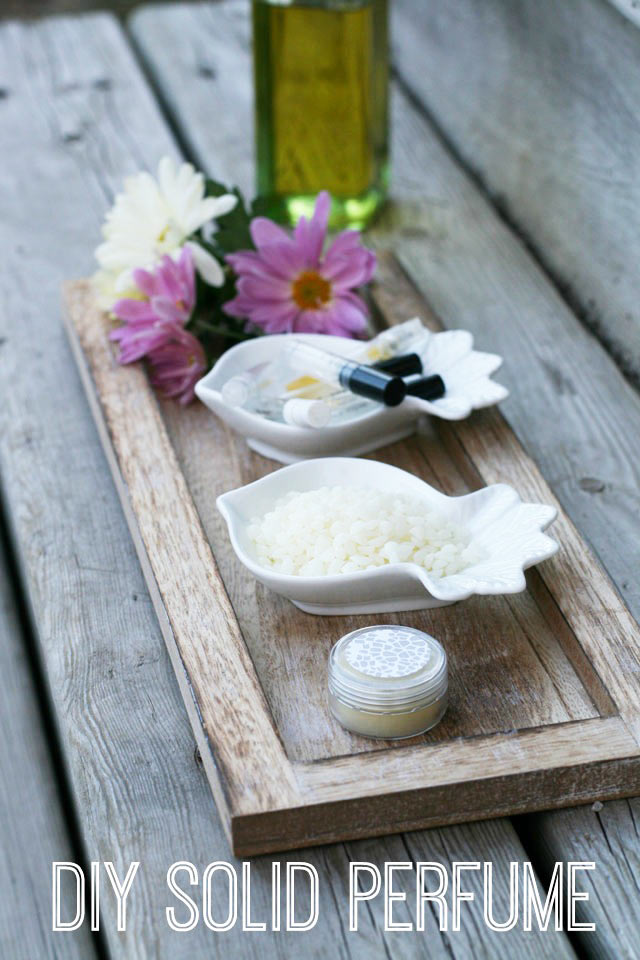 How to make solid perfume out of perfume sample vials. Click through for instructions!