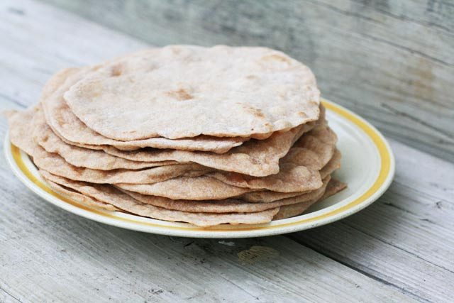 Homemade whole wheat tortilla shells: Making your own tortilla shells at home isn't difficult at all!
