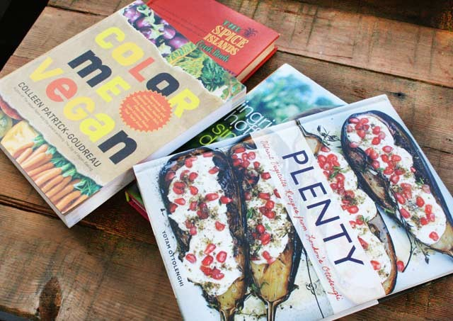 Buy cookbooks at thrift shops. Look for new as well as vintage ones.
