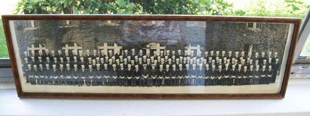 An old framed photograph of a military group from Minnesota