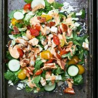 Paleo chicken BLT salad. Finally, a salad that really fills you up!
