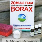 5 easy ways to use Borax to save money around the house. Click through for details!