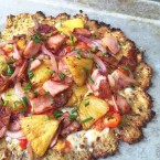 Hawaiian Pizza (with a cauliflower crust). Paleo, gluten free, and LOADED with toppings!