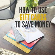 How to use gift cards to save money. Practical tips to save (and make) money using gift cards.
