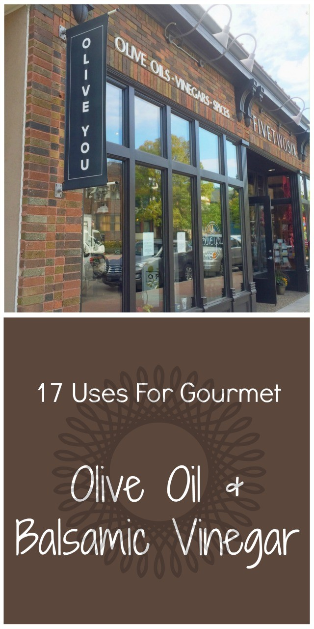 17 Uses for gourmet Olive Oil and Balsamic Vinegar. Click through for all 17 recipes!
