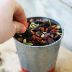 Make a batch of roasted kidney bean and chickpea trail mix. Try something new!