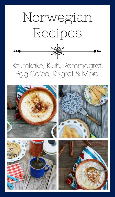 Norwegian recipes, from Cheap Recipe Blog. Click through for many traditional Norwegian recipes!