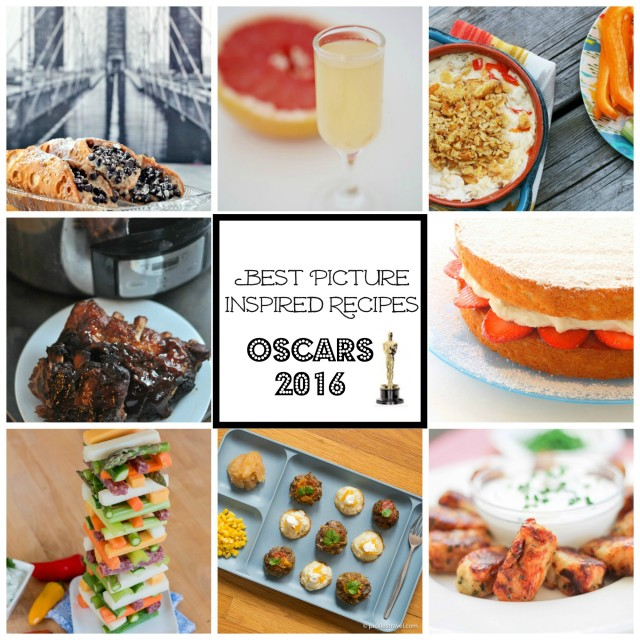 2016 Best Picture-inspired recipes, one for every nominee! Use these recipes for your Academy Awards party!