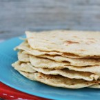 Homemade tortillas, made with einkorn flour. Easy to make. Click through for recipe!
