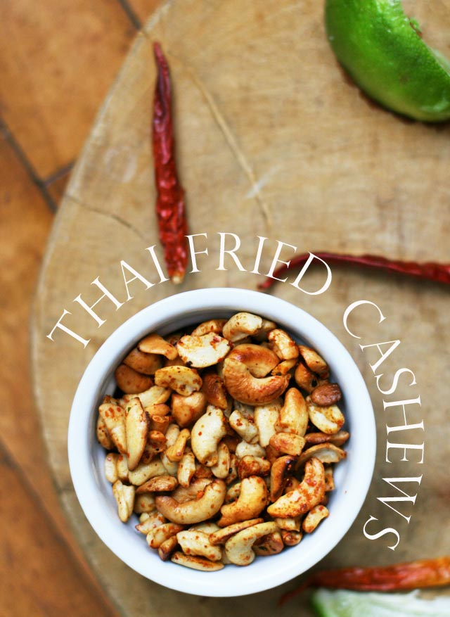 Thai-fried cashews: An addictive healthy snack with bold Thai flavors.