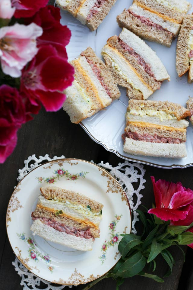 Ribbon sandwiches: An old-fashioned, fancy sandwich that is perfect for a party.
