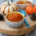 Pumpkin compote (Brazilian doce de abobora). Only 2 ingredients to make this traditional dessert!