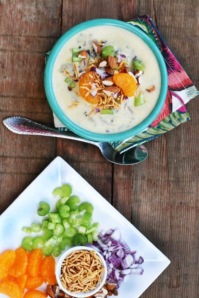 Creamy Hawaiian coconut chicken soup recipe.