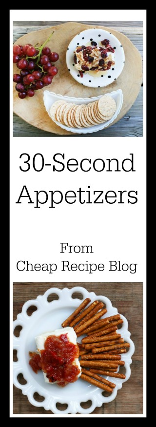 Can you make an appetizer in 30 seconds? Yes! Get lots of super fast app recipes for your next party. Click through for recipes.