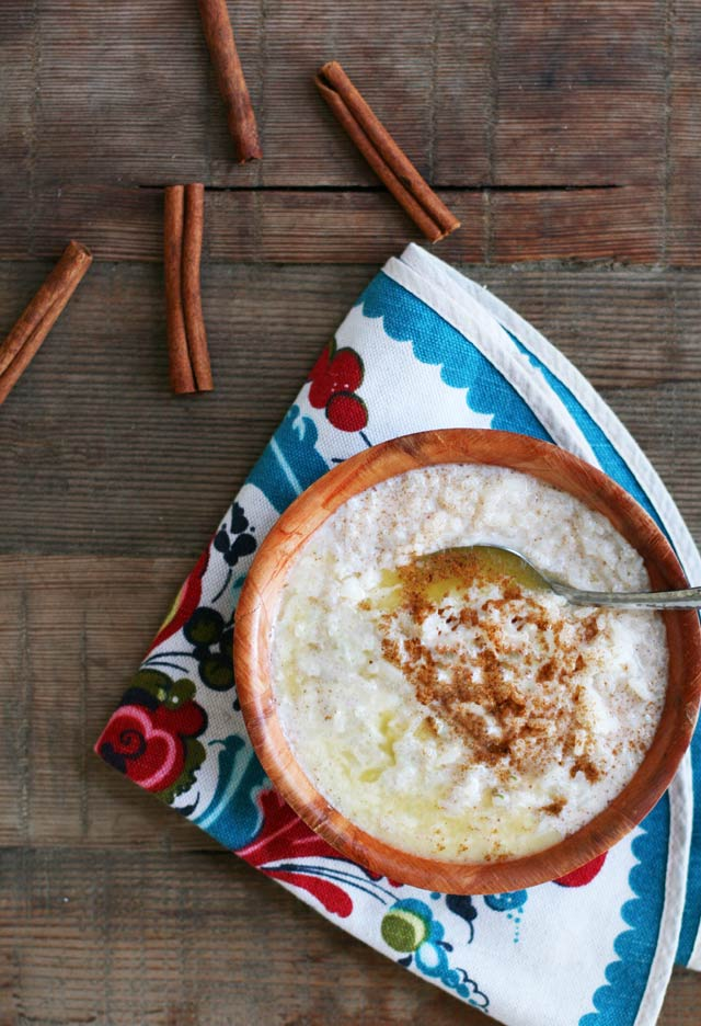 Traditional Norwegian rice pudding (risgrot). Cook the rice low and slow... the wait is worth it!