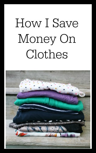 How I save money on clothes: Tips from Cheap Recipe Blog.